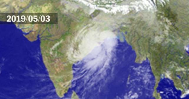大型サイクロン「ファニ」がインドに上陸しました